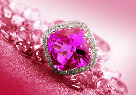 Various Jewelry gem stones on a background  Stock Photo
