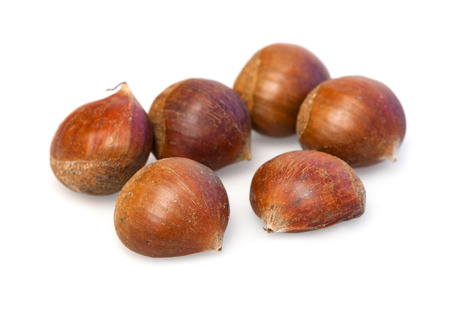 fresher: Food  ingredients -  chestnut   isolated over white background