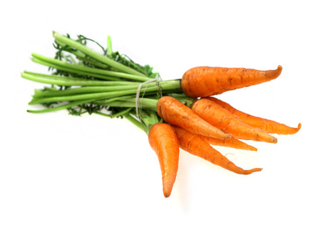 fresher: Food  ingredients - vegetable carrot isolated over white background Stock Photo