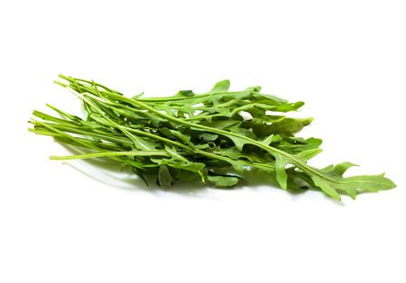 fresher: Food  ingredients - salad green ruccola  arugulla   isolated over white background