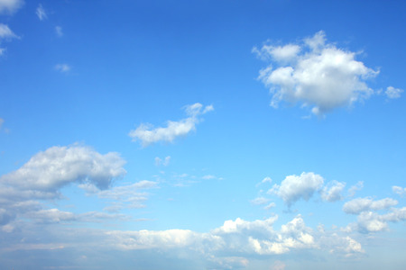 Blue sky, white clouds on clear skies