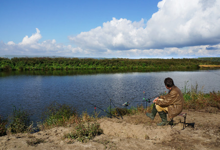 Fishing on river, sporting event 05.09.2014 photo