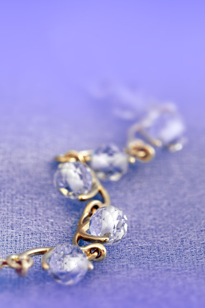 magnificence: Jewelry  bracelet with blue topaz on blue