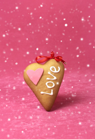 sweet heart: Valentine card with sweet heart for a valentines day Stock Photo