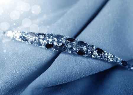 jewelle: Luxury jewelry on velvet background close up