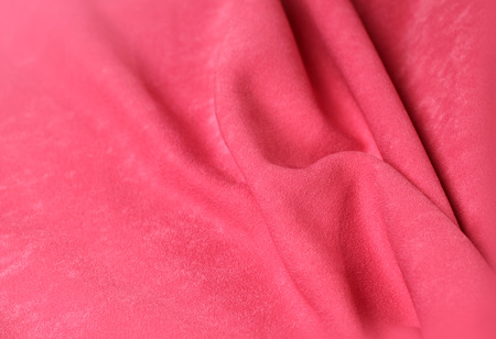 textille: Pink velvet background with folds for design Stock Photo