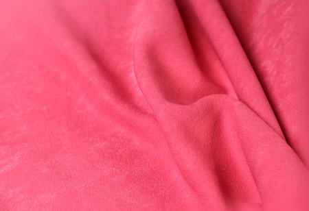 textille: Pink velvet background with folds for design Stock Photo