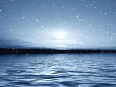 end line: Mar de nieve Foto de archivo