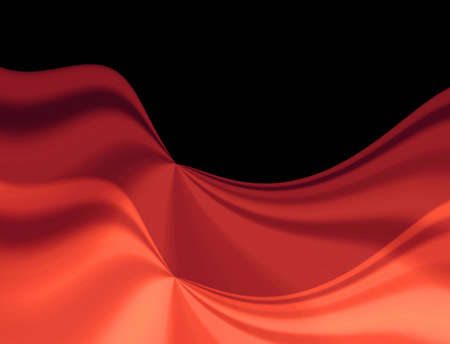 crease:  Red drapery background.