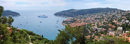 azure coast: Panoramic scenery - a view on the sea from above, Azure coast of France, the state Monaco