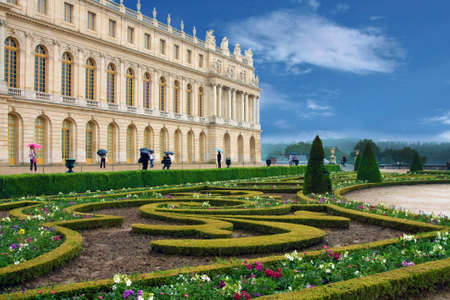 the summer palace:  Palace de Versailles in France, near to Paris, a masterpiece of park architecture and landscape design
