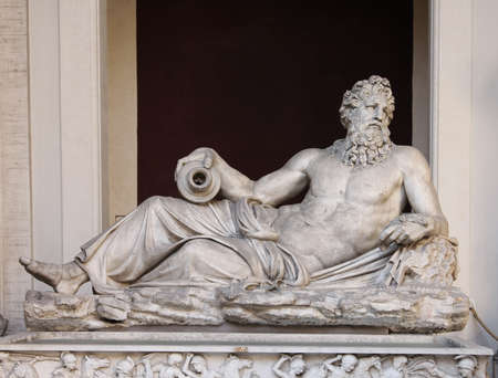 neptun: Art of Italy in museums of Vatican,  a sculpture Neptun