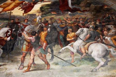 estrofa: Arte de Italia en los museos del Vaticano, un fresco de Rafael Sanzio