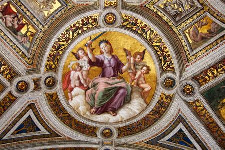 estrofa: El arte de Italia en los museos del Vaticano, un fresco de Rafael, estrofa Editorial