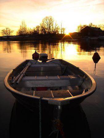Gold barco  Foto de archivo
