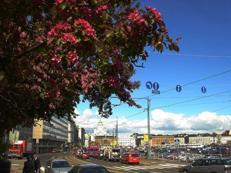 Kind of city Helsinki in the spring Stock Photo