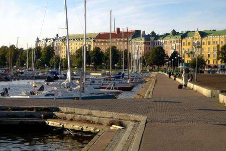 Embankment of city Helsinki