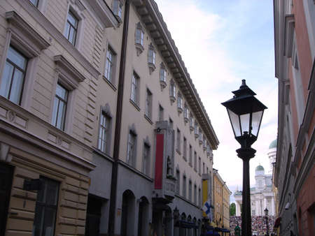 Old City Lantern. Street of Helsinki