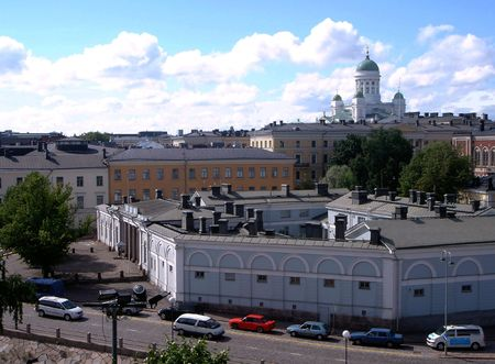 Panorama of Helsinki Stock Photo