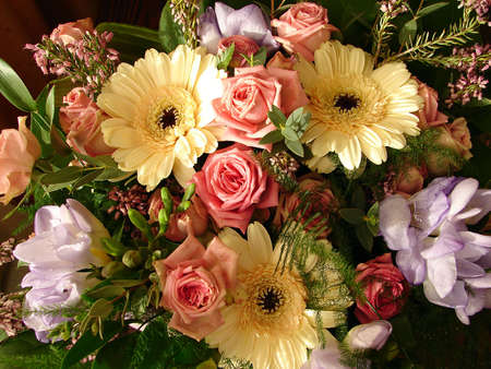 The multi-coloured flowers of the beauty Bouquet