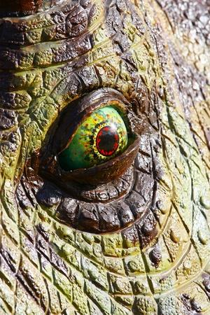 tyrannosaur: Triceratops dinosaur eye Stock Photo