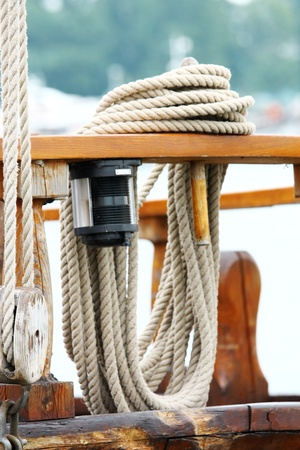 Rope on deck  photo