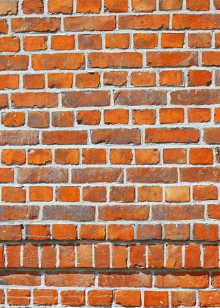 The red brick wall background photo