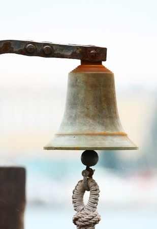 Bell on sailing ship Stock Photo