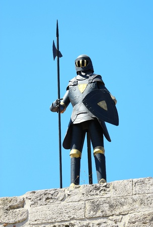 Knights armor on the strength of Rhodes, Greece  photo
