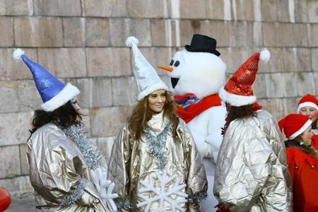 HELSINKI, FINLAND - NOVEMBER 20: Traditional Christmas Street opening in Helsinki on November 20, 2011.