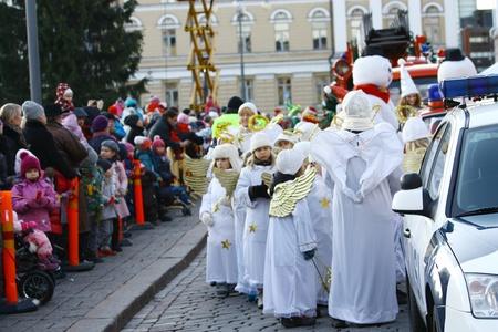 HELSINKI, FINLAND - NOVEMBER 20: Traditional Christmas Street opening in Helsinki on November 20, 2011. Stock Photo - 11259963