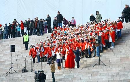 HELSINKI, FINLAND - NOVEMBER 20: Traditional Christmas Street opening in Helsinki on November 20, 2011. Stock Photo - 11259974