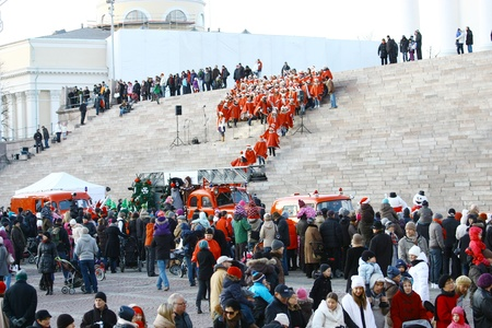 HELSINKI, FINLAND - NOVEMBER 20: Traditional Christmas Street opening in Helsinki on November 20, 2011. Stock Photo - 11260210