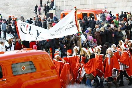 HELSINKI, FINLAND - NOVEMBER 20: Traditional Christmas Street opening in Helsinki on November 20, 2011. Stock Photo - 11260232