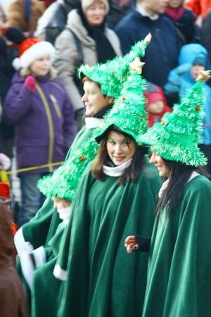 HELSINKI, FINLAND - NOVEMBER 20: Traditional Christmas Street opening in Helsinki on November 20, 2011. Stock Photo - 11260215