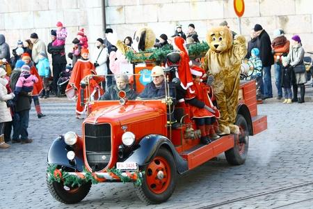 HELSINKI, FINLAND - NOVEMBER 20: Traditional Christmas Street opening in Helsinki on November 20, 2011. Stock Photo - 11260237