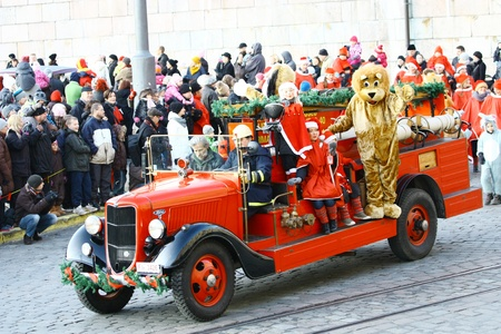 HELSINKI, FINLAND - NOVEMBER 20: Traditional Christmas Street opening in Helsinki on November 20, 2011. Stock Photo - 11260235