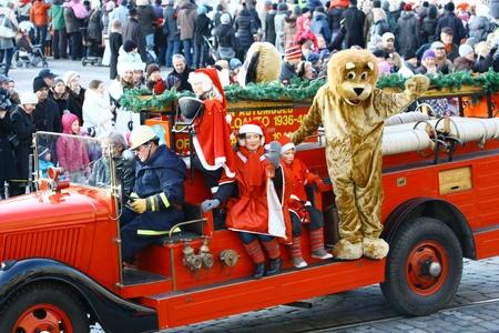 HELSINKI, FINLAND - NOVEMBER 20: Traditional Christmas Street opening in Helsinki on November 20, 2011. Stock Photo - 11260230