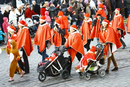 HELSINKI, FINLAND - NOVEMBER 20: Traditional Christmas Street opening in Helsinki on November 20, 2011. Stock Photo - 11260229
