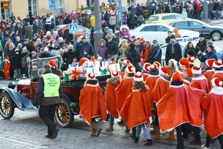 HELSINKI, FINLAND - NOVEMBER 20: Traditional Christmas Street opening in Helsinki on November 20, 2011. Stock Photo - 11260227
