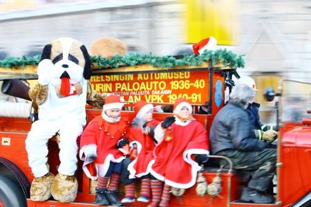 HELSINKI, FINLAND - NOVEMBER 20: Traditional Christmas Street opening in Helsinki on November 20, 2011. Stock Photo - 11260201