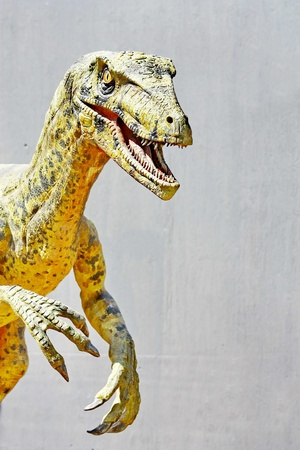 Vantaa, FINLAND - APRIL 22  Dinosaur exhibition in Finnish Science Center Heureka on April 22, 2011 in Vantaa  Designed and produced by Rafael Estevez in co-operation with Mexican Museo del Desierto