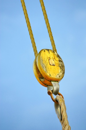 rigging: Ship rigging  Stock Photo