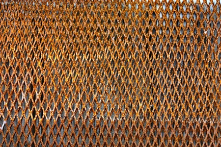 Grill metal hole on grunge texture background  Stock Photo - 13677036