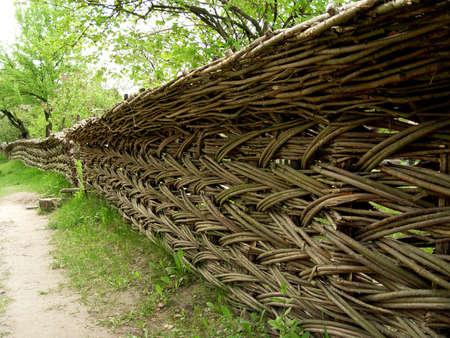etnic: Wicker fence Stock Photo