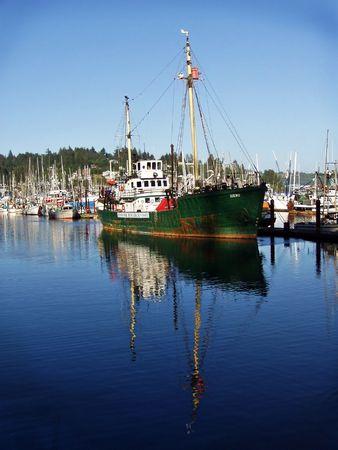 Historic two mast boat,  photo