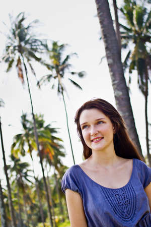 Portrait of a beautiful young woman outdoor Stock Photo - 10297185
