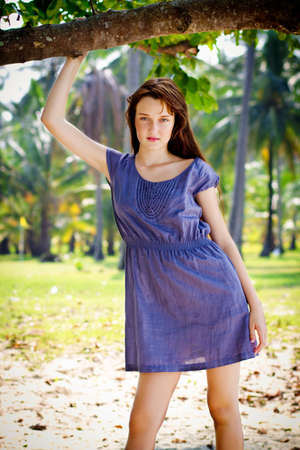 A young and attractive women posing outdoor Stock Photo - 10307129