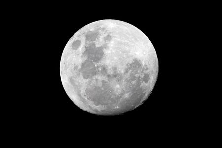 View of the full moon over the African continent Stock Photo - 3461789