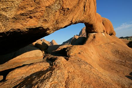 Massive granite arch, Spitzkoppe, Namibia, southern Africa Stock Photo - 4855312